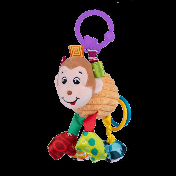 Maimutica Maggie, Bali Bazoo, jucarie din plus cu vibratii, inele, fosnaitoare si chitaitoare, multicolora 0