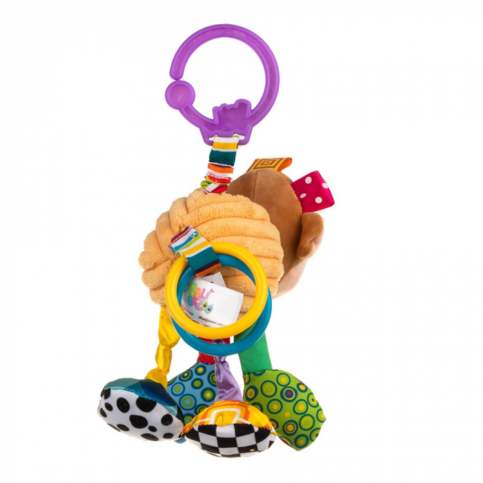 Maimutica Maggie, Bali Bazoo, jucarie din plus cu vibratii, inele, fosnaitoare si chitaitoare, multicolora 3