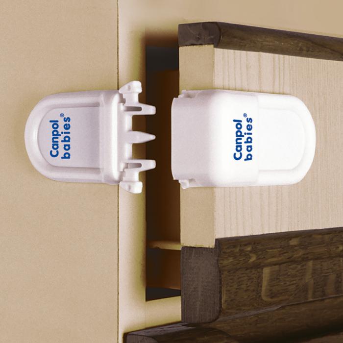 Încuietoare de siguranță pentru sertare, alb [3]