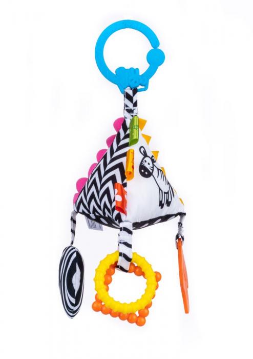 Piramida senzoriala, Bali Bazoo, jucarie din plus cu sunatoare, inele, chitaitoare, inel gingival, multicolora 2