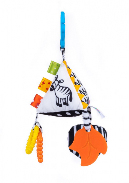 Piramida senzoriala, Bali Bazoo, jucarie din plus cu sunatoare, inele, chitaitoare, inel gingival, multicolora 1