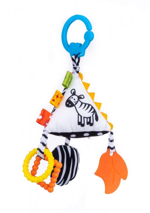 Piramida senzoriala, Bali Bazoo, jucarie din plus cu sunatoare, inele, chitaitoare, inel gingival, multicolora 0