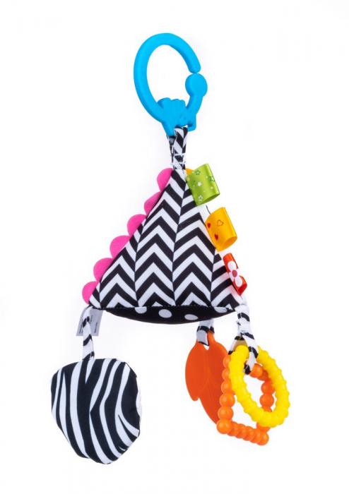 Piramida senzoriala, Bali Bazoo, jucarie din plus cu sunatoare, inele, chitaitoare, inel gingival, multicolora 4