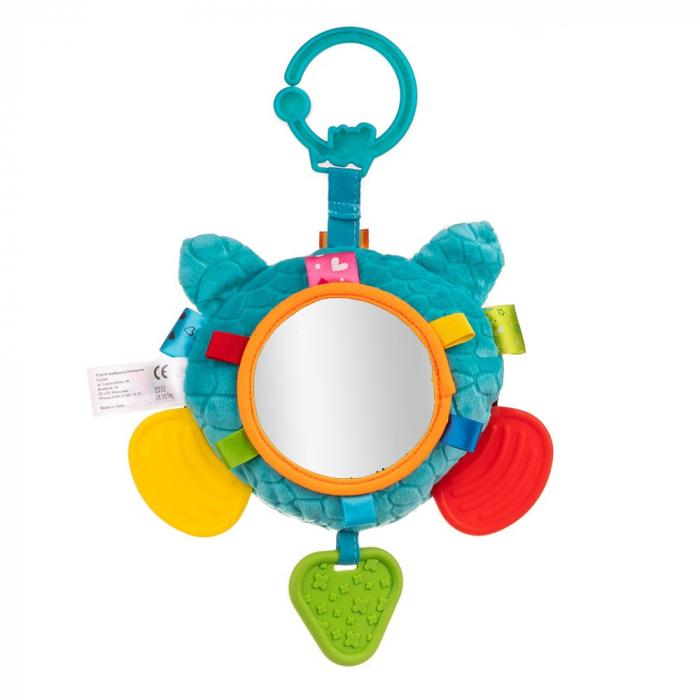 Ratonul Max, Bali Bazoo, jucarie din plus cu sunatoare, parti moi, oglinda si fosnaitoare, multicolora 3