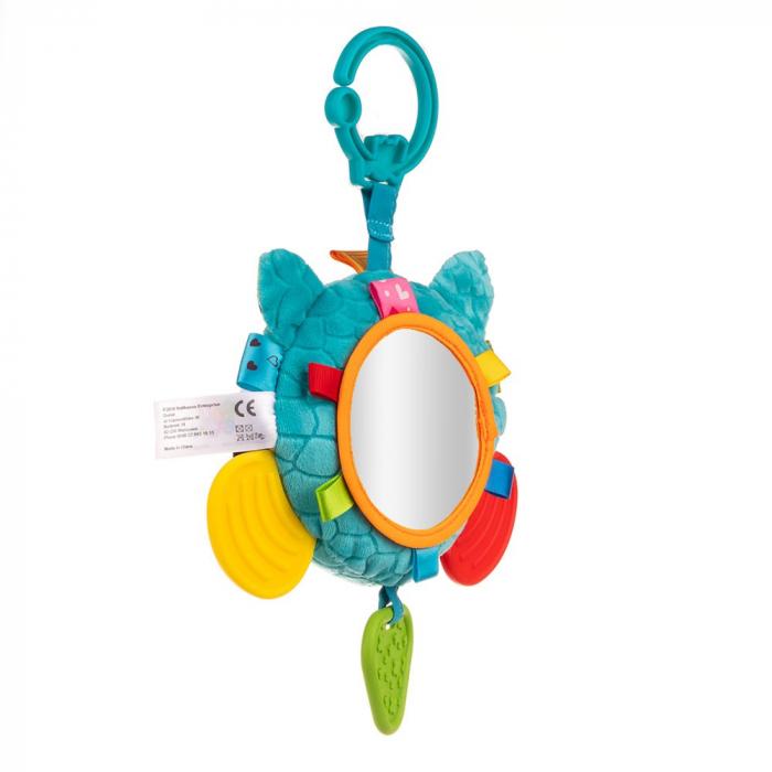 Ratonul Max, Bali Bazoo, jucarie din plus cu sunatoare, parti moi, oglinda si fosnaitoare, multicolora 2