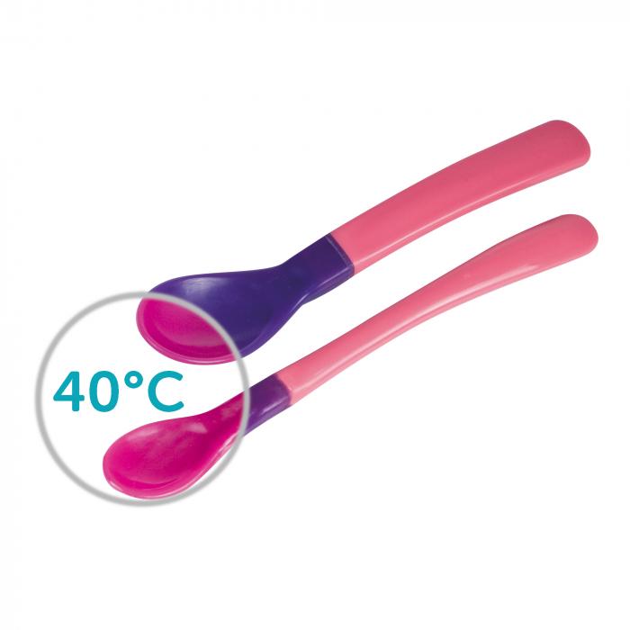 Set 2 lingurite magice cu culori schimbatoare, Canpol babies®, fara BPA 1