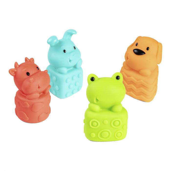 Set 4 jucarii pentru baie, fara BPA, multicolor 0