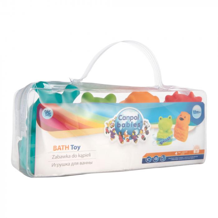Set 4 jucarii pentru baie, fara BPA, multicolor 2