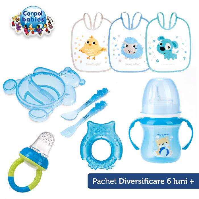 Set diversificare 6 luni, Canpol babies®, 5 produse, albastru [0]