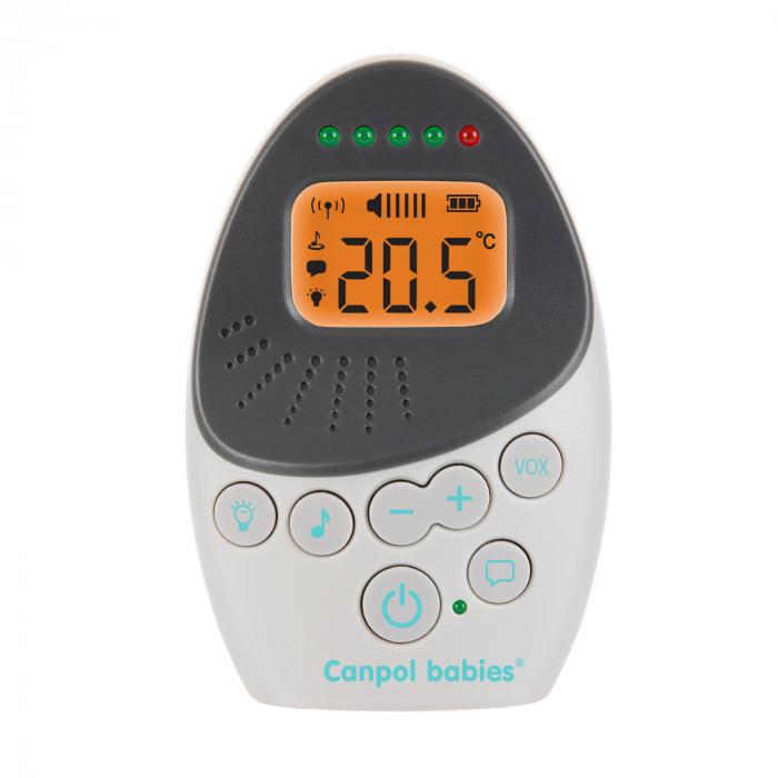 "Sistem bidirectional de monitorizare audio bebelusi, ""EasyStart Plus"", Canpol babies®, alb/gri 3"