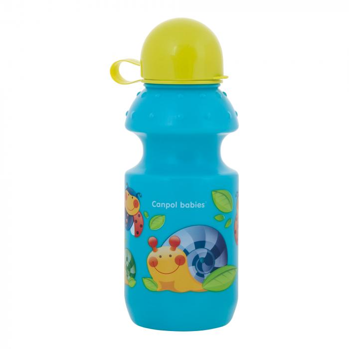 Sticluta clasica sport, Canpol babies®, fara BPA, 360 ml, bleu 0