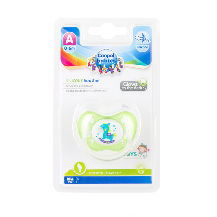 "Suzeta ""Toys"" cu inel fosforescent si tetina ortodontica silicon, fara BPA, 0-6 luni [3]"