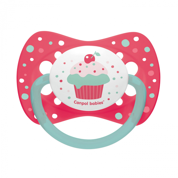 "Suzeta ""Cupcake"" cu tetina simetrica silicon, fara BPA, 0 - 6 luni [0]"