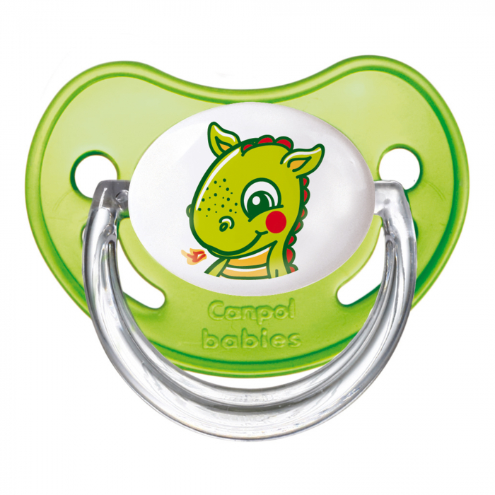 "Suzeta ""Fairy Tale"" cu tetina ortodontica silicon, Canpol babies®, fara BPA, 18 luni+, verde 0"