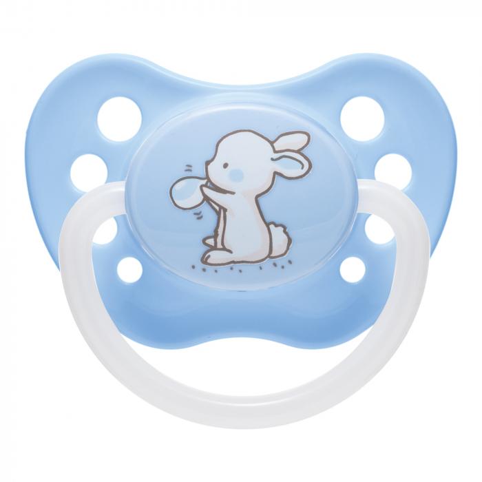 """Suzeta """"Little Cutie"""" cu tetina ortodontica silicon, Canpol babies®, fara BPA, 18 luni+, albastru [0]"""