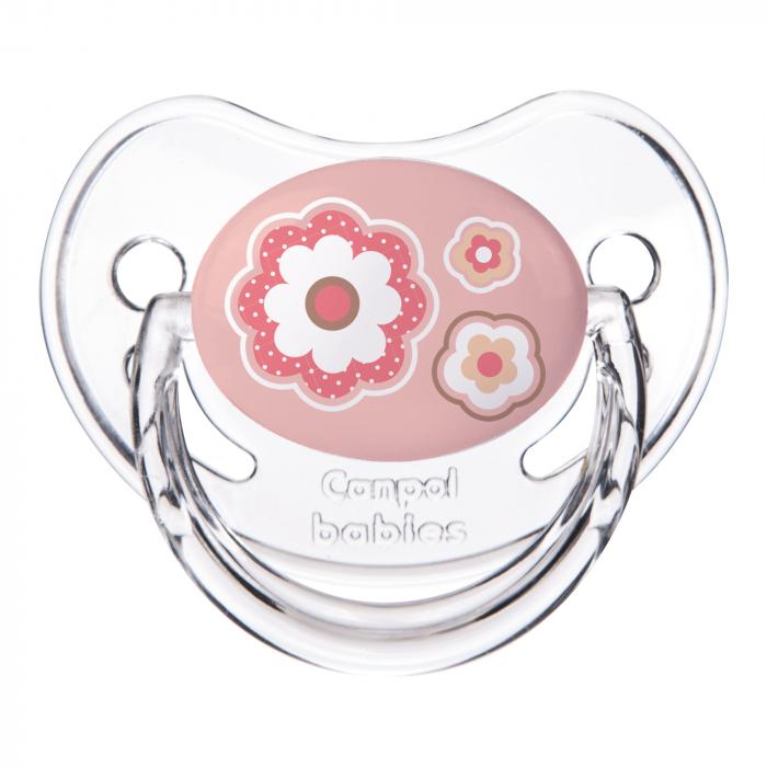 "Suzeta ""Newborn Baby"" cu tetina ortodontica silicon, Canpol babies®, fara BPA, 0-6 luni, roz 0"