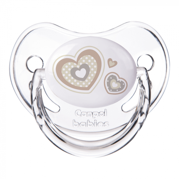 "Suzeta ""Newborn Baby"" cu tetina ortodontica silicon, Canpol babies®, fara BPA, 6-18 luni, bej 0"