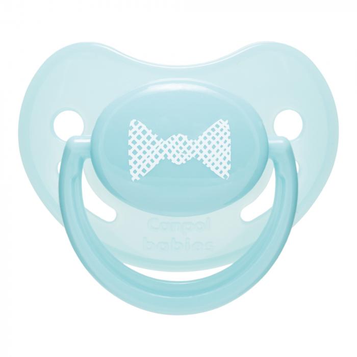 "Suzeta ""Pastelove"" cu tetina ortodontica silicon, Canpol babies®, fara BPA, 0-6 luni, turcoaz [0]"