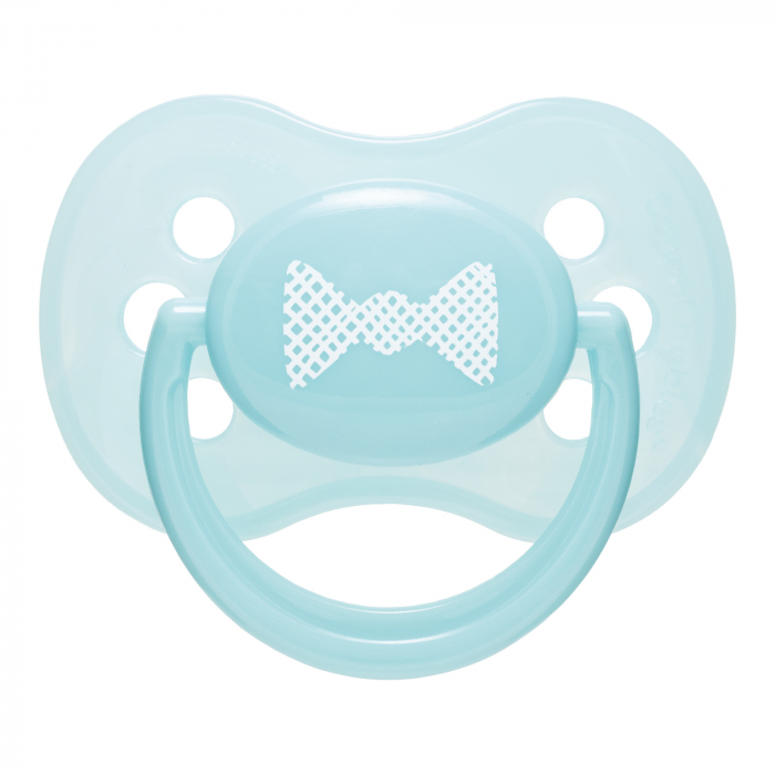 "Suzeta ""Pastelove"" cu tetina rotunda silicon, Canpol babies®, fara BPA, 0-6 luni, turcoaz 0"