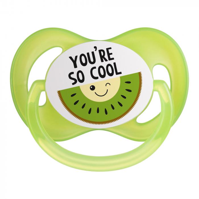 "Suzeta ""So Cool"" cu tetina simetrica silicon, fara BPA, 0-6 luni [2]"