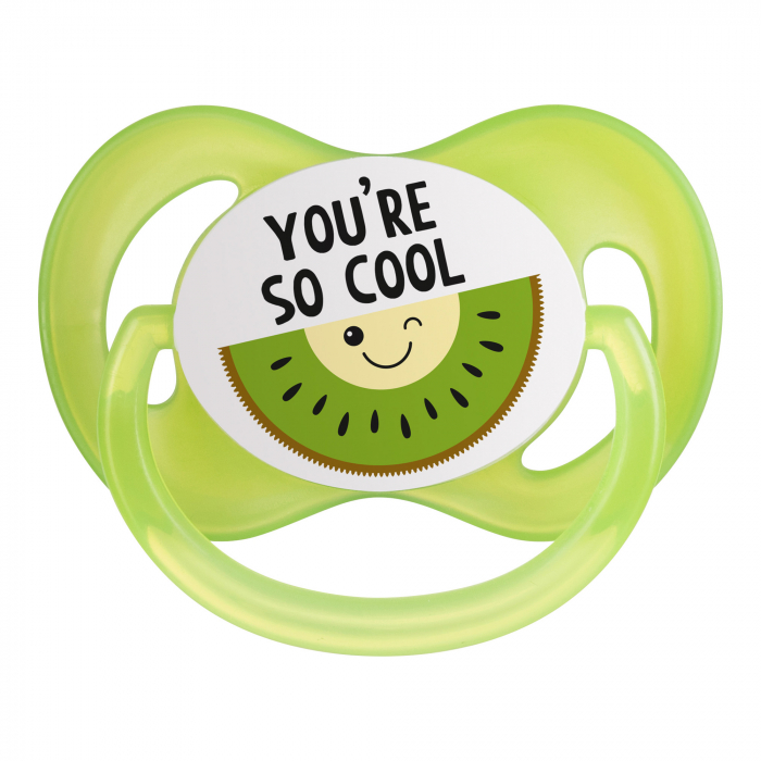 "Suzeta ""So Cool"" cu tetina simetrica silicon, Canpol babies®, fara BPA, 18 luni+, verde 4"