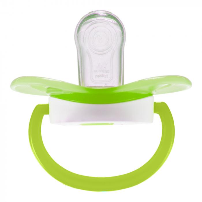 "Suzeta ""So Cool"" cu tetina simetrica silicon, Canpol babies®, fara BPA, 18 luni+, verde 3"