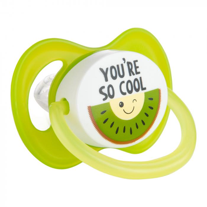 "Suzeta ""So Cool"" cu tetina simetrica silicon, Canpol babies®, fara BPA, 6-18 luni, verde 0"