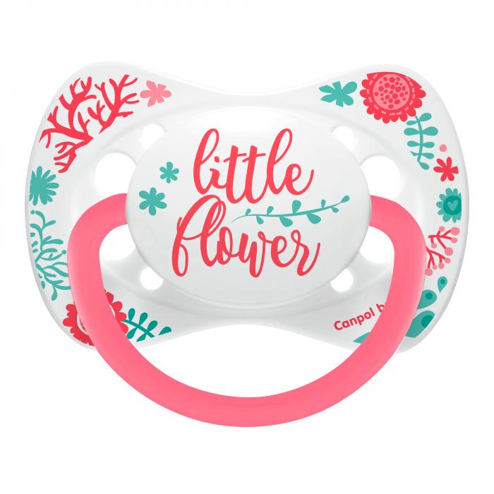 "Suzeta ""Wild Nature"" cu tetina simetrica silicon, Canpol babies®, fara BPA, 18 luni+, roz 0"