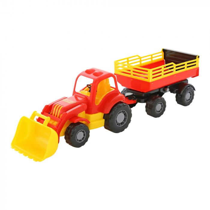 """Tractor """"Hercule"""" cu lama si remorca, Polesie®, multicolor 0"""