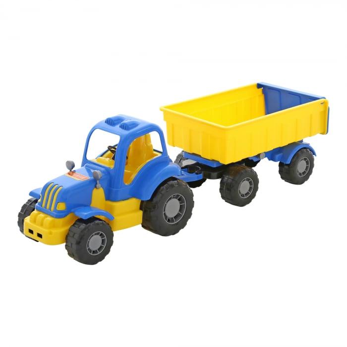 """Tractor """"Hercule"""" cu remorca, Polesie®, multicolor [0]"""