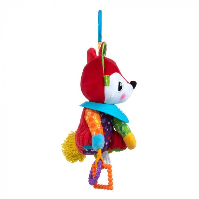 Vulpoiul Filip, Bali Bazoo, jucarie din plus cu parti moi inele si fosnaitoare, multicolora 4