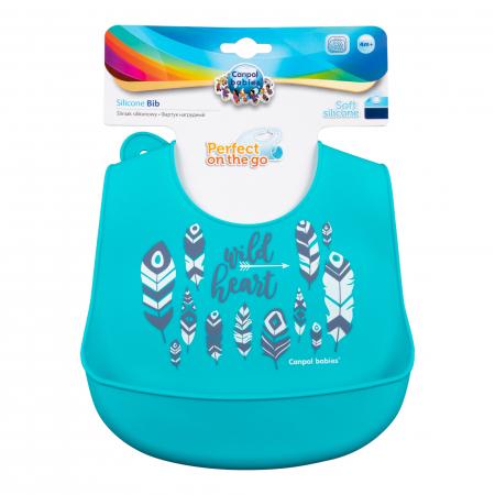 "Baveta din silicon moale ""Wild Nature"", Canpol babies®, fara BPA,1"