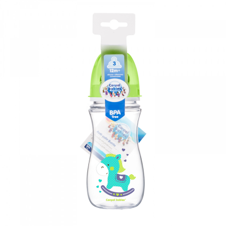 "Biberon anticolici gat larg, ""Easy Start Toys"", Canpol babies®, polipropilena, 300 ml1"