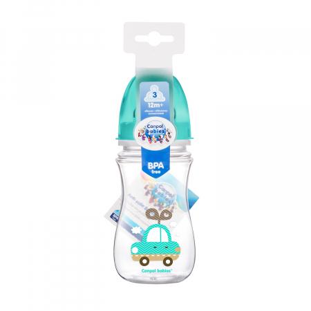 "Biberon anticolici gat larg ""Easy Start Toys"", Canpol babies®, polipropilena, 240 ml1"