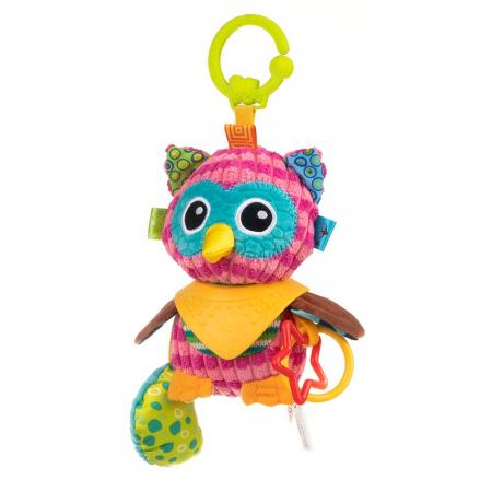 Bufnita Olivia, Bali Bazoo, jucarie din plus cu inele si chitaitoare, multicolora4