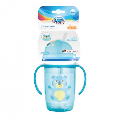 "Cana sport cu pai ""Hello Little!"", Canpol babies®, 400 ml, fara BPA, turcoaz1"