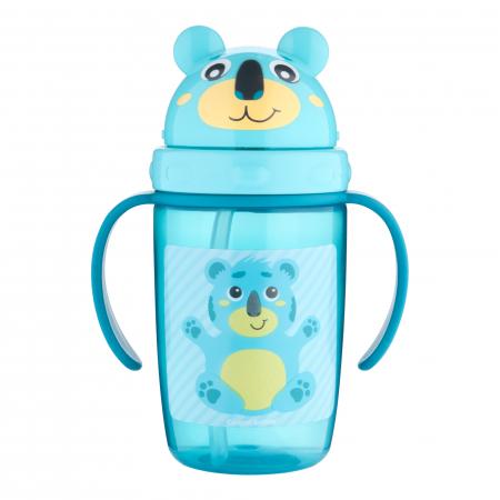 "Cana sport cu pai ""Hello Little!"", Canpol babies®, 400 ml, fara BPA, turcoaz0"