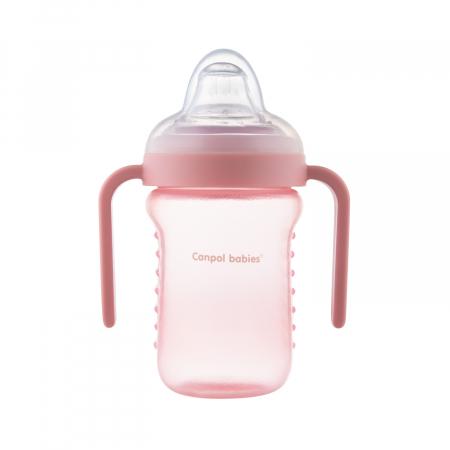 Canita anti-varsare, Canpol babies®, fara BPA, 220 ml, roz [4]