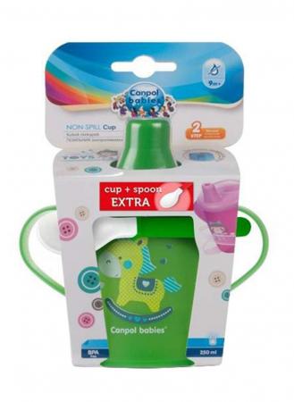 "Canita anti-varsare Haberman ""Toys"" 250 ml + lingurita flexibila, 9 luni + [2]"