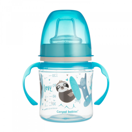 "Canita antrenament ""Exotic Animals"", Canpol babies®, 120 ml, bleu [1]"