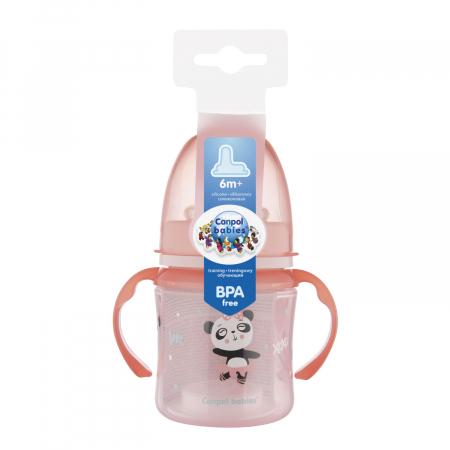 "Canita antrenament ""Exotic Animals"", Canpol babies®, 120 ml, roz [2]"