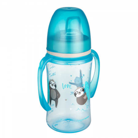 "Canita antrenament ""Exotic Animals"", Canpol babies®, 240 ml, albastru [0]"