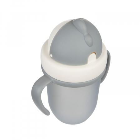 "Canita sport ""Matte Pastels"" cu pai retractabil, Canpol babies®, fara BPA, 210 ml, gri [4]"