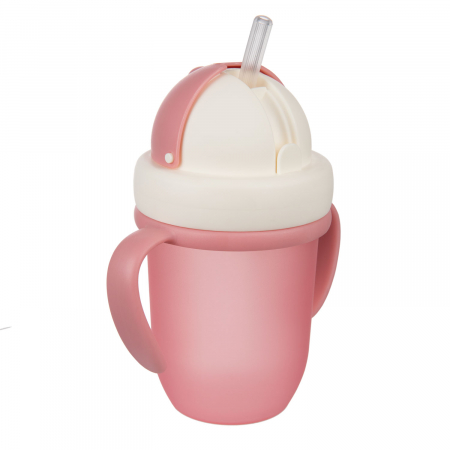 "Canita sport ""Matte Pastels"" cu pai retractabil, Canpol babies®, fara BPA, 210 ml, roz [3]"