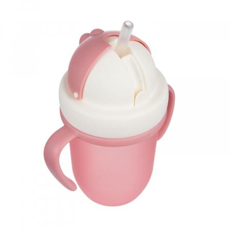 "Canita sport ""Matte Pastels"" cu pai retractabil, Canpol babies®, fara BPA, 210 ml, roz [5]"