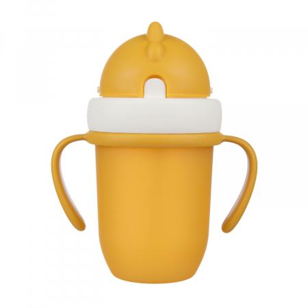 "Canita sport ""Matte Pastels"" cu pai retractabil, Canpol babies®, fara BPA, 210 ml, galben [0]"