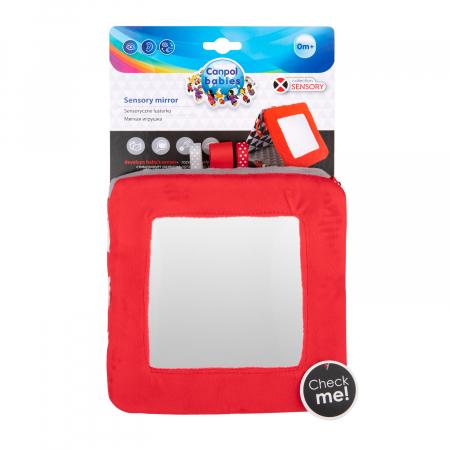 """Carte educativa cu oglinda """"Sensory Toys"""", 0 luni +, multicolor8"""