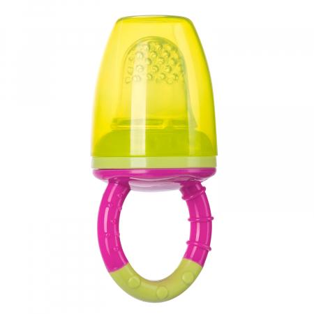 Dispozitiv de hranire pentru introducerea primelor fructe si legume, Canpol babies®, fara BPA, roz/galben1