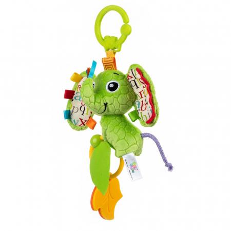 Elefantica Eva, Bali Bazoo, jucarie din plus cu sunatoare, parti moi si fosnaitoare, multicolora1