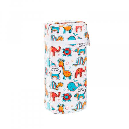 """Izolator din material moale pentru biberoane """"Colourful Animals"""" varianta 2, multicolor1"""